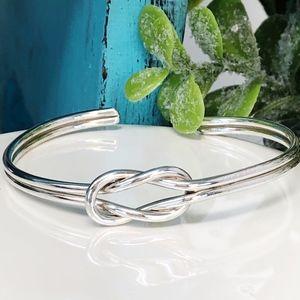 Jewelry - Sterling Silver Love Knot Cuff Bracelet